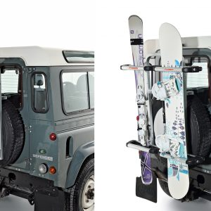 Ski racks for rear wheel